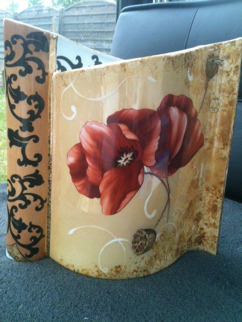 grand vase aux coquelicots et arabesques