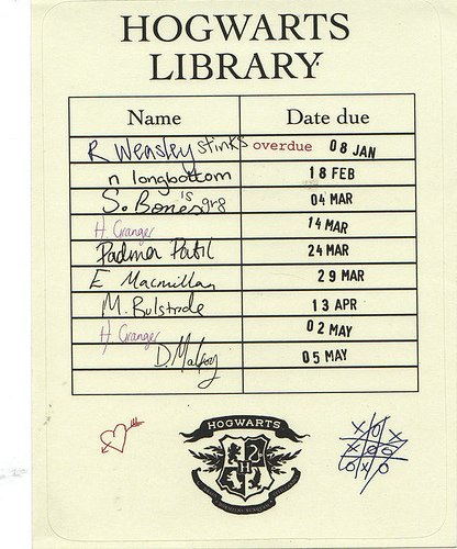 Harry Potter Book Dates ~ De propsharrypotter