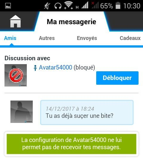Article 2 : Avatar5400, un PéXdophile TRES direct...