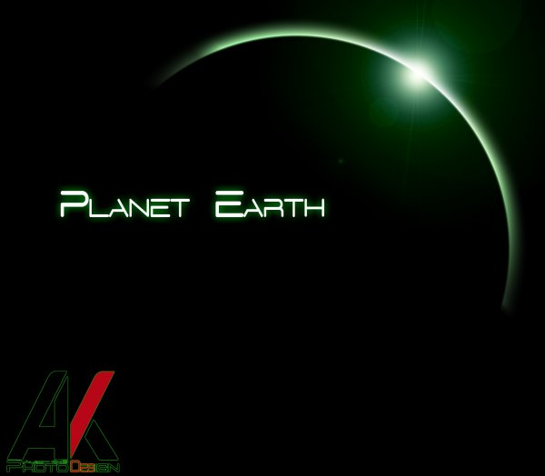 AlbO-KinG PhotoDesign Planet Earth Eclips