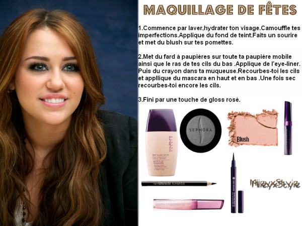 Maquillage de fêtes - Ta source mode/beauté sur Miley Cyrus ...