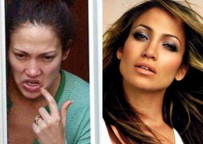Look de Jennifer Lopez: Avec et Sans maquillage