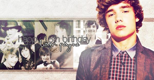 .Happy birthday Liam James Payne ♥ Il fête aujourd'hui ses 18 ans , il est maintenant majeur . .