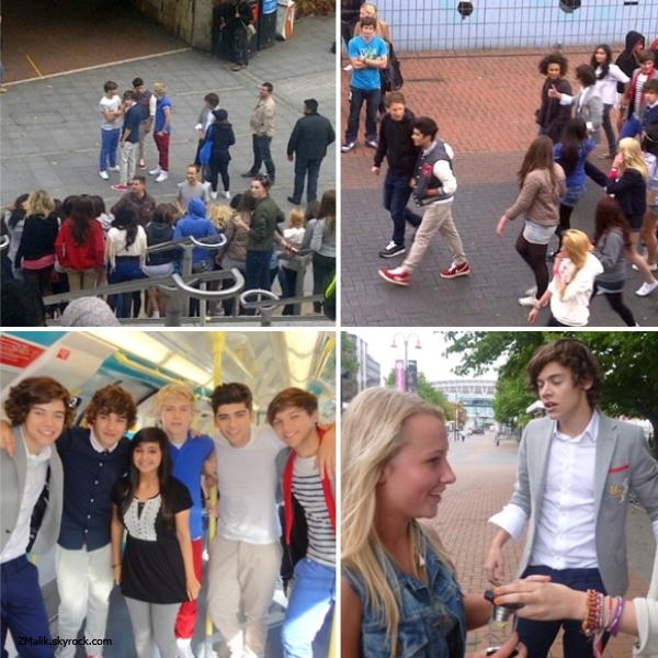 .5 Septembre 2011 : Ils étaient avec des fans puis ils ont pris une photo avec une fan dans le métro. .
