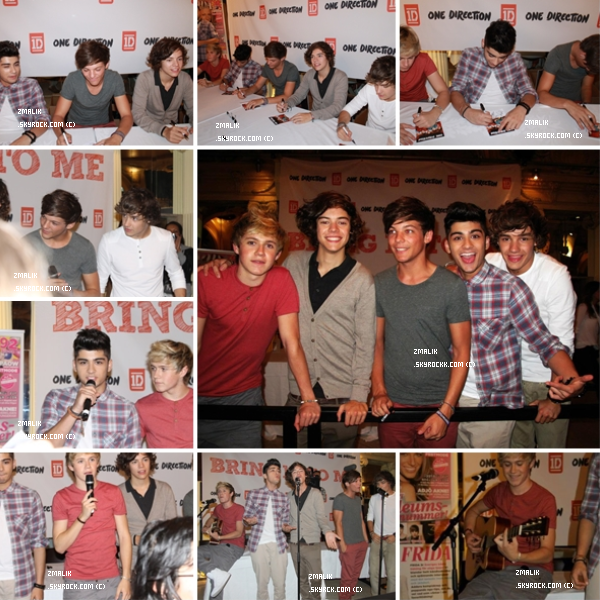 .♦ 2 Octobre 2011 : Les One Direction ont fait une séance de dédicace en Suéde. La vidéo : ici . .
