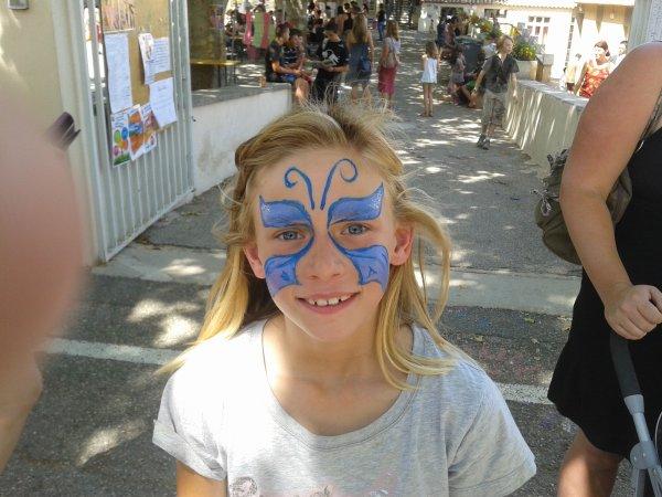 Lucie a la kermesse samedi 23 juin