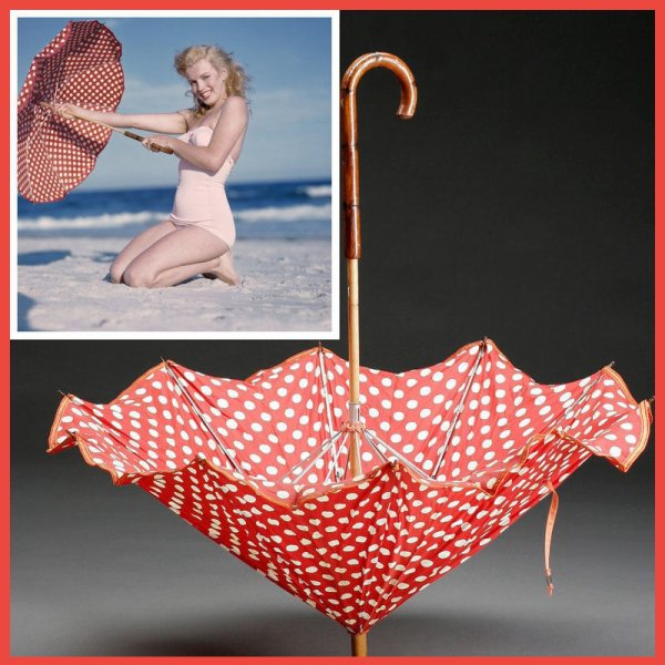 L'une des ombrelles à pois ayant servie pour cette séance photo...