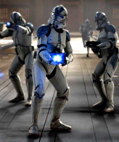 Les protagonistes de la guerre 1: Les fantassins clones