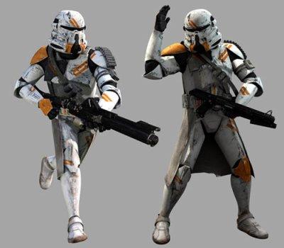 Les protagonistes de la guerre 7 : L'infanterie aéroportée clone