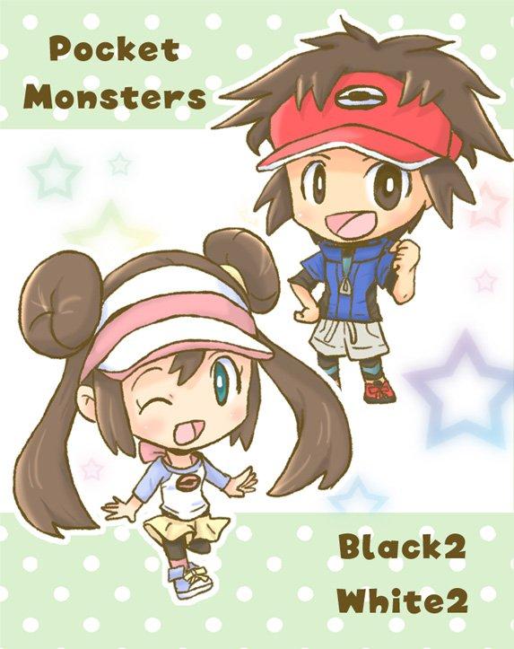 white x black