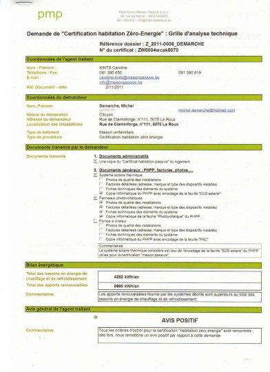 certificat zero-energie