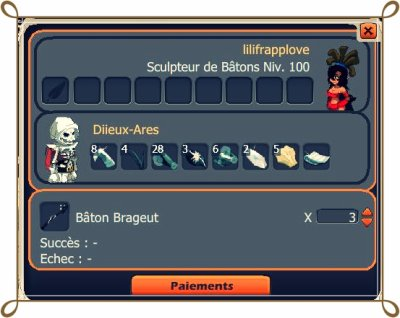 Drope , et Commandes d'items !