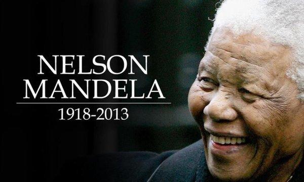 Papa Nelson Mandela nous a quitté que son âme repose en Paix....