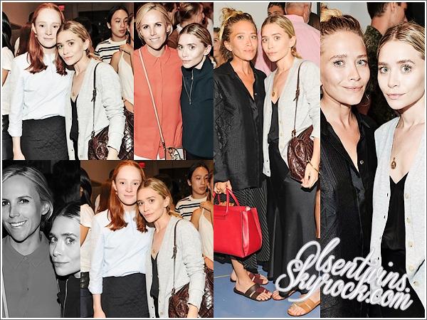 03 / 09 / 14 : Mary-Kate & Ashley Olsen étaient à la soirée d'ouverture de la boutique «Trademark » qui avait lieu au restaurant Cherche Midi dans -New York.Elle était toute belle toute les deux ensemble ! Trademark est la marque de Pookie et Louisa Burch.