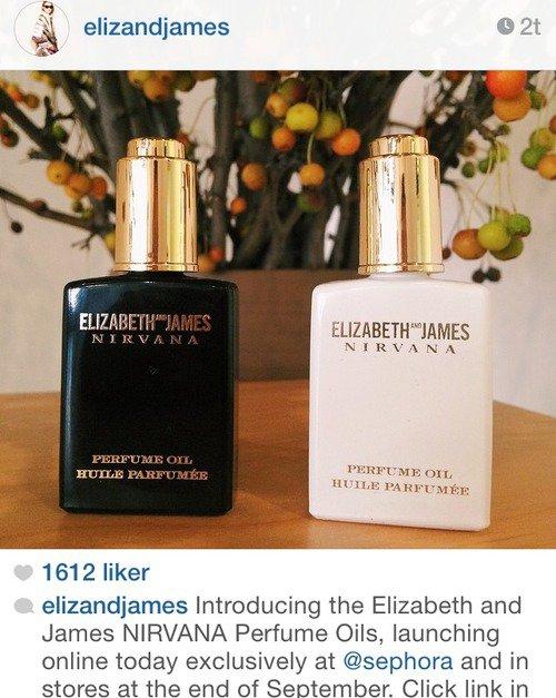 Parfum : Présentation du nouveau parfum de la collection « Elizabeth and James Nirvana » chez Sephora.J'aime beaucoup le flacon il est très jolie , j'aimerai vraiment sentir l'odeur de ce nouveau parfum des soeurs ! Pour le moment je ne c'est pas quand c'est parfum sortiront en France...Pour en savoir plus sur les parfums : ICI