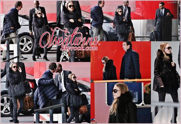 13/01/15 : Mary-Kate Olsen accompagnée de sont amoureux Oliver Sarkozy ont été aperçu arrivant à Paris pour les funérailles de l'oncle à Olivier ( Thierry de Ganay ) .Pour le coup Mary-kate nous fais un beau TOP ! j'adore même si c'est toujours sombre je trouve qu'il y a des efforts de fais !