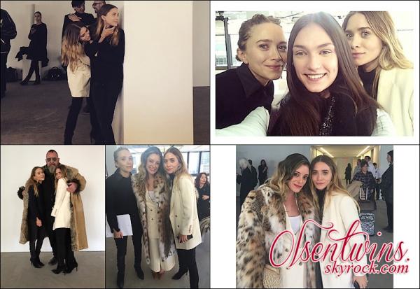 Fashion Week 2015 : Mary-Kate & Ashley Olsen ont présenté leur nouvelle collection de leur marque de vêtement The Row à la Fashion Week de New York.Elle avait l'air si complice et tellement souriante j'aime beaucoup les voirs ainsi ont voit vraiment quel aime ce quelle font !