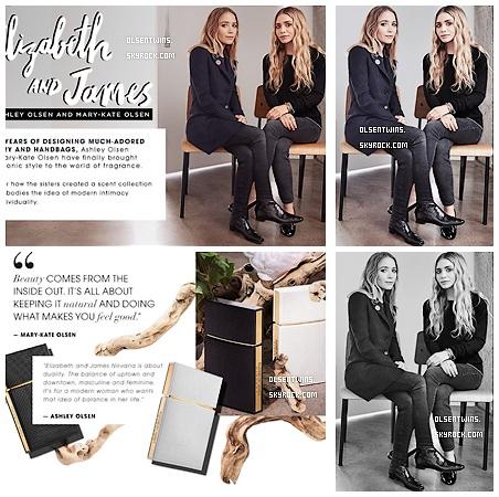 """PARFUMS // Elizabeth & James : Photo des soeurs Olsen pour leur Parfum """"Nirvana"""" de leur collection Elizabeth & James qui est commercialiser chez Sephora."""