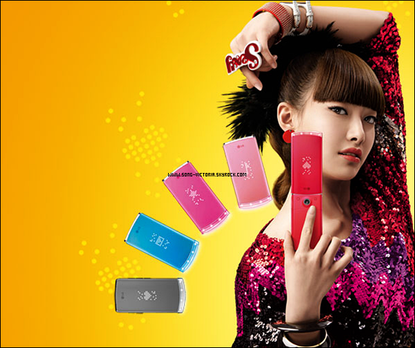 .Victoria , a posé pour la marque de Portable LG .