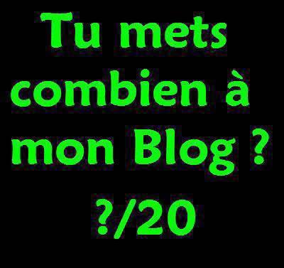 Tu mets combien à mon blog ?