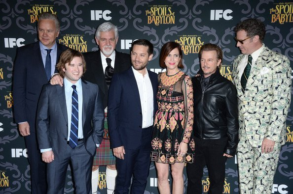 Tim Robbins, Haley Joel Osment, Steve Tom, Tobey Maguire, Kristen Wiig, David Spade et Will Ferrell assistent à la projection de «The Spoils Of Babylon»