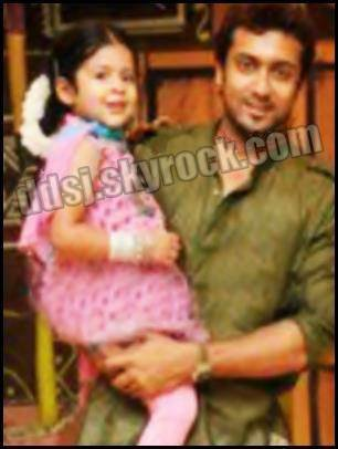 Surya with his son Dev...