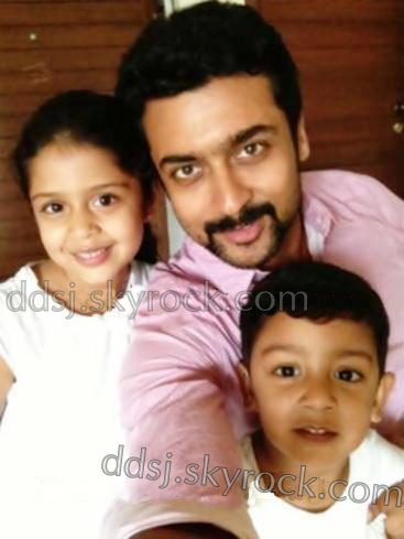 Latest Rare/Unseen Pic of Surya with Dev & Diya! - Dev & Diya