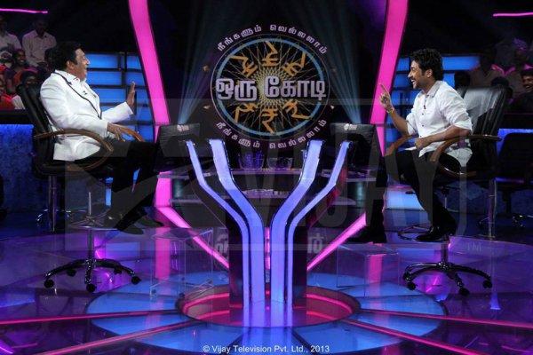 Surya playing NVOK 2 with Prakash Raj