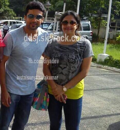 Surya Jyothika with Diya -Rare/Unseen pic - Dev & Diya ...