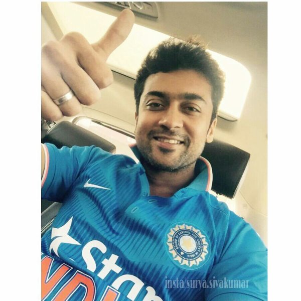Surya in Indian Team jersey!
