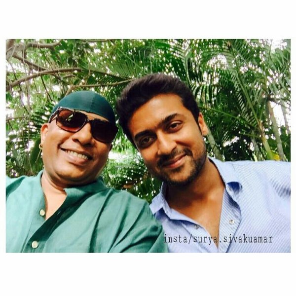 Suriya with Drums Sivamani