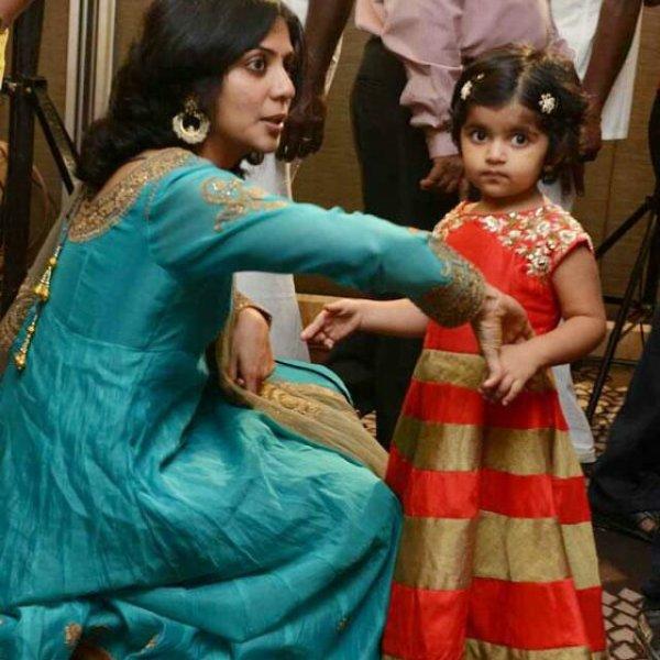 Karthi's daughter Ummayal @ Prabhu sr wedding reception ...  Actor Karthi Daughter Umayaal Photos