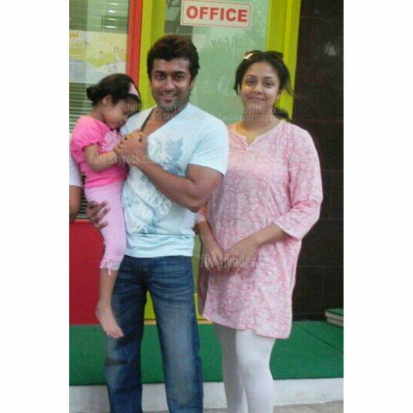 Suriya Jyothika With Diya