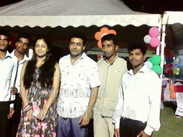 Suriya Jyothika Karthi @ Dev Suriya Birthday party 2015