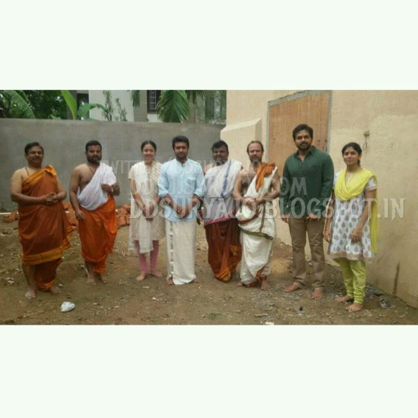 Suriya Jyothika Karthi @ Suriya's new house foundation stone laying func - Rare/Unseen