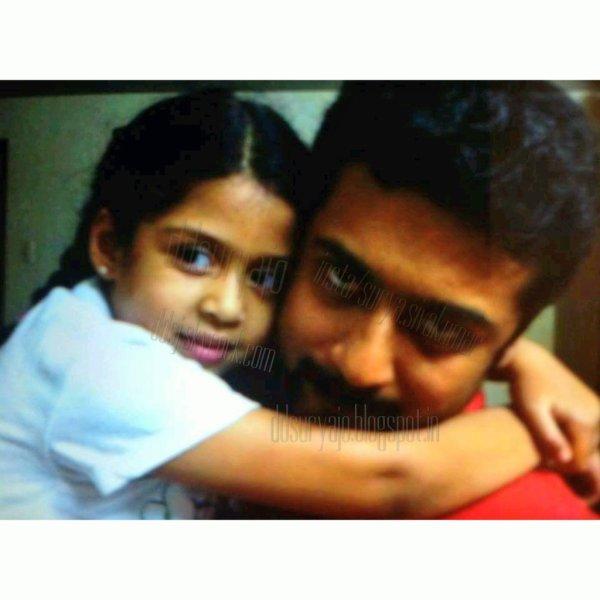Diya with Suriya - Rare/Unseen Pic