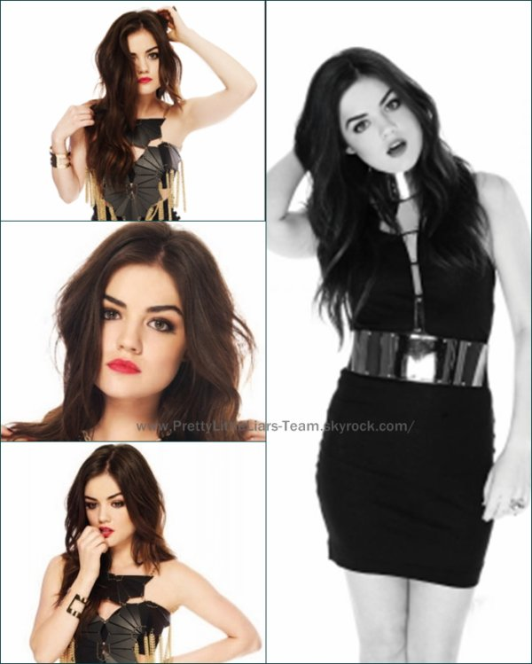 .  Quelques photos de Lucy Hale du photo shoot réalisé par le magazine Maniac .