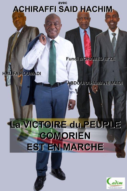 AVEC ACHIRAFFI SAID HACHIM, LA VICTOIRE DU PEUPLE COMORIEN EST EN MARCHE