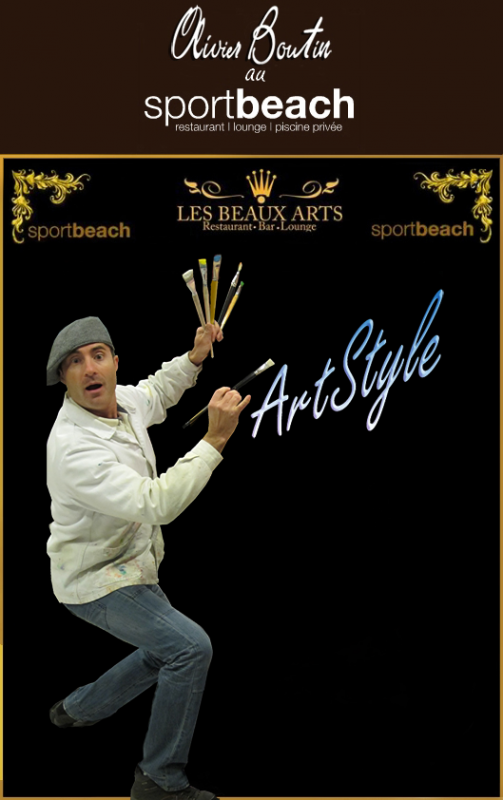 Spectacle-Performance Olivier Boutin au Sport Beach Marseille le 22 Mars