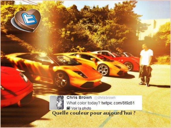 Chris a posté cette photo sur son Twitter ;D