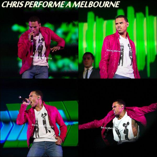 Chris à Melbourne ( + de photos) + Intagram + Actu