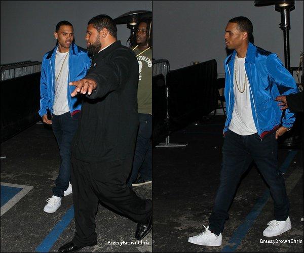 Twitter  + Le 26 Avril 2012 Chris sortait de la boîte Greystone Manor à Los Angeles.