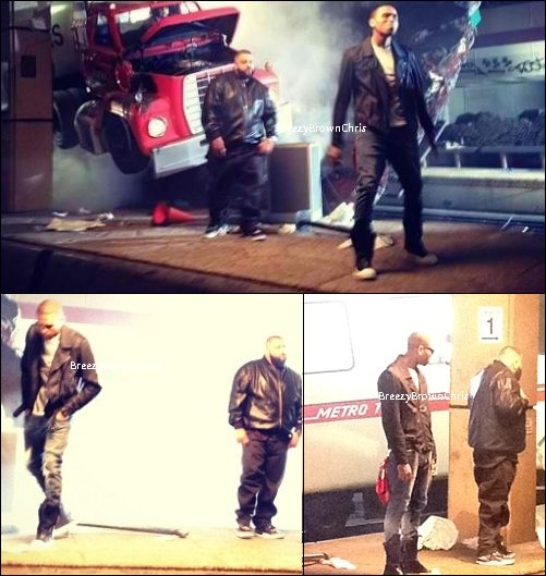 "Le 29 Avril 2012 Chris au studio d'enregistrement + Sur le tournage de ""Take It To The Head"""