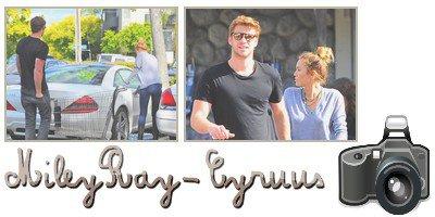 15.04.2012 ; Miley & Liam font leurs courses.