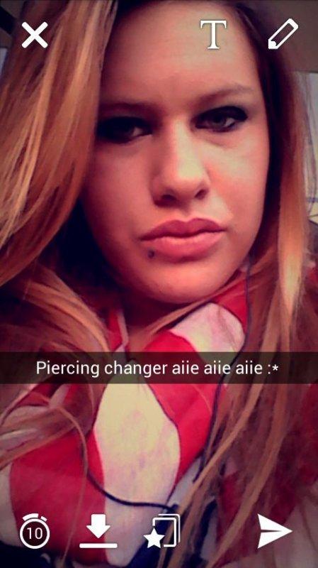 Nouveau piercing :*