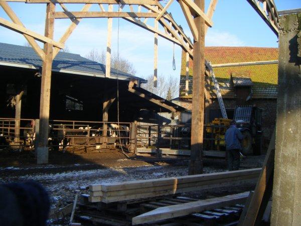 construction du nouveau hangar 2009