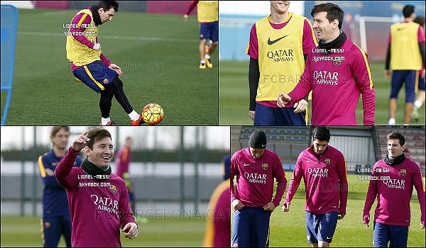 . 113/02/16 - Le génie argentin Messi était présent à l'entrainement quotidien du FC Barcelone !  14/02/16 -Lionel Messi et le FC Barcelone affrontait le Celta Vigo en Liga BBVA. Victoire 6-1 ! 15/02/16 - Lionel Messi était présent comme toujours à l'entrainement quotidien de Barcelone ! 16/02/16 - Encore et encore, Messi était présent à l'entrainement quotidien du FC Barcelone !  17/02/16 - Leo Messi et le FC Barcelone affrontait le Sporting Gijon en Liga BBVA. Victoire 1-3 ! .