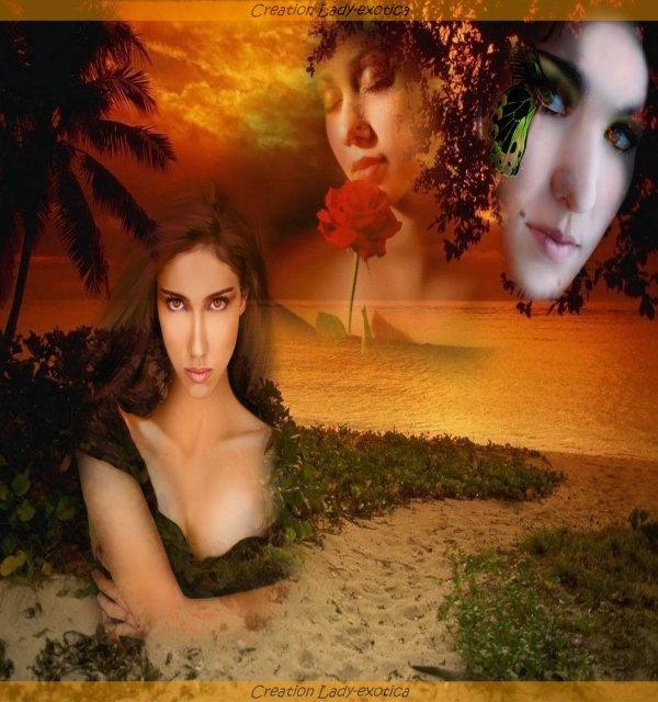 Femmes coucher De Soleil