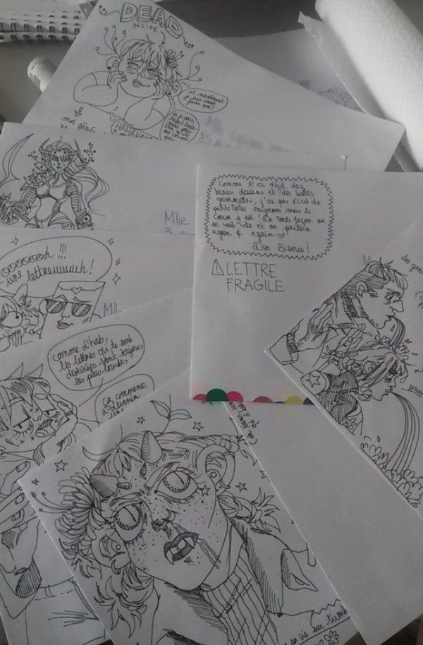 des lettres que j'ai envoyé aux mignons gens qui sont toujours là et qui sont des amours !