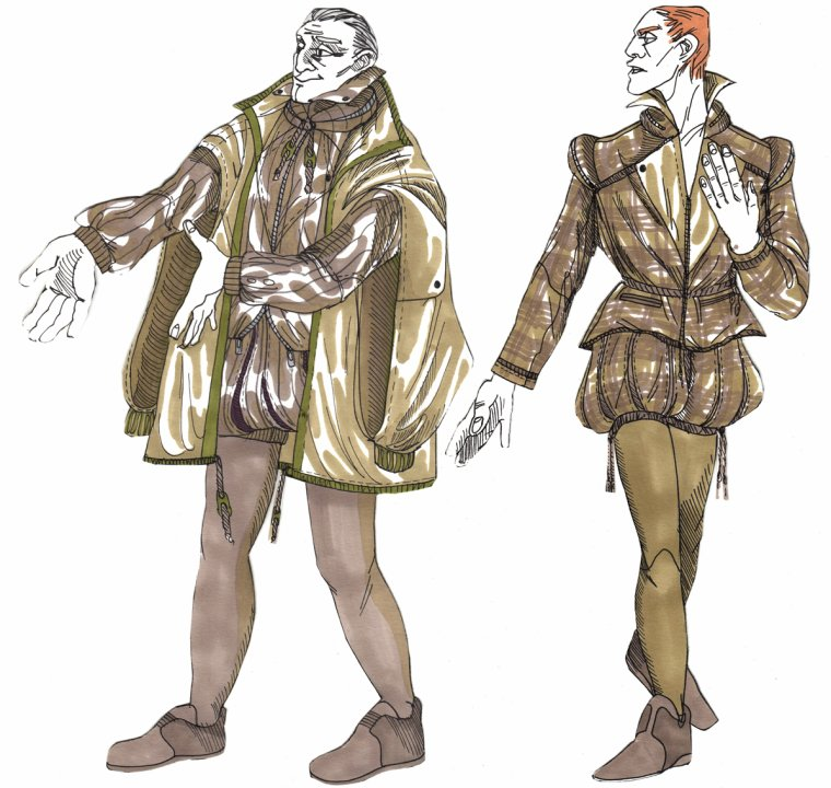 Conception costume pour As You Like It de Shakespeare